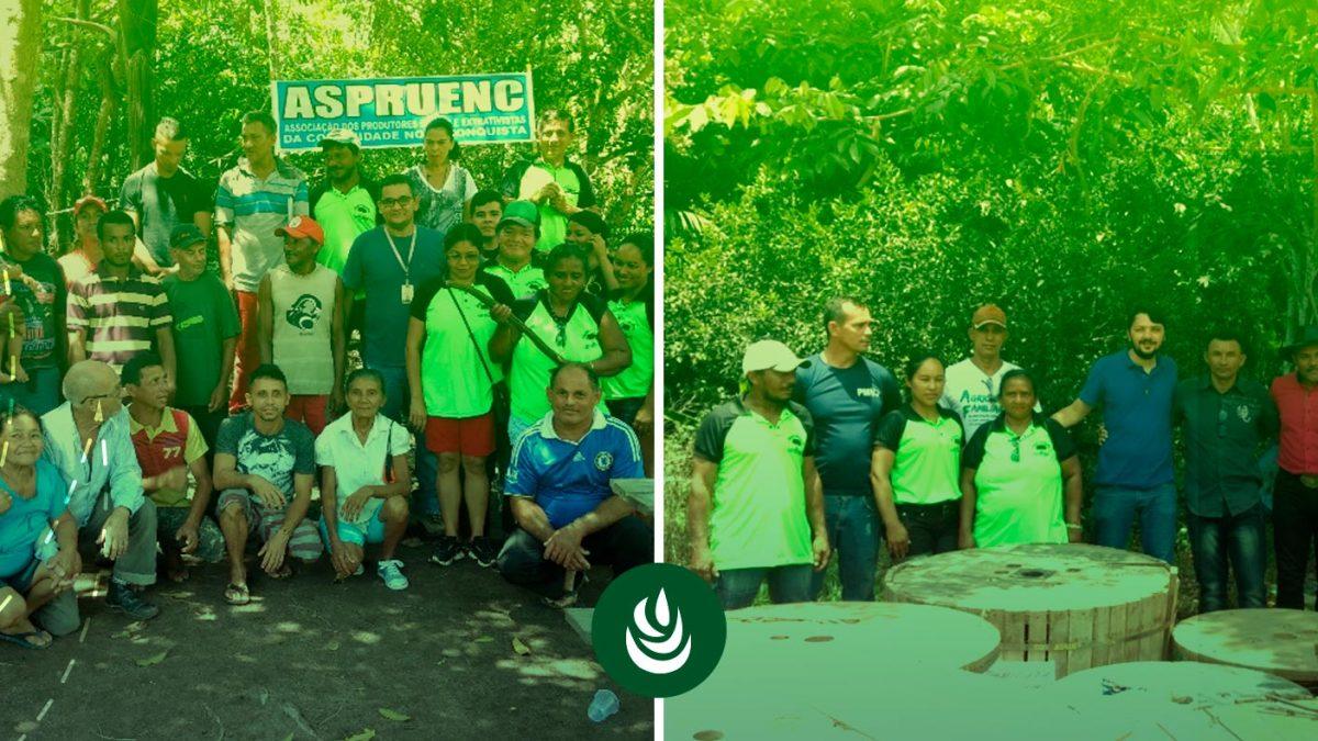 Projeto REDD+ Jari - Rede elétrica chega a 59 famílias de Nova Conquista