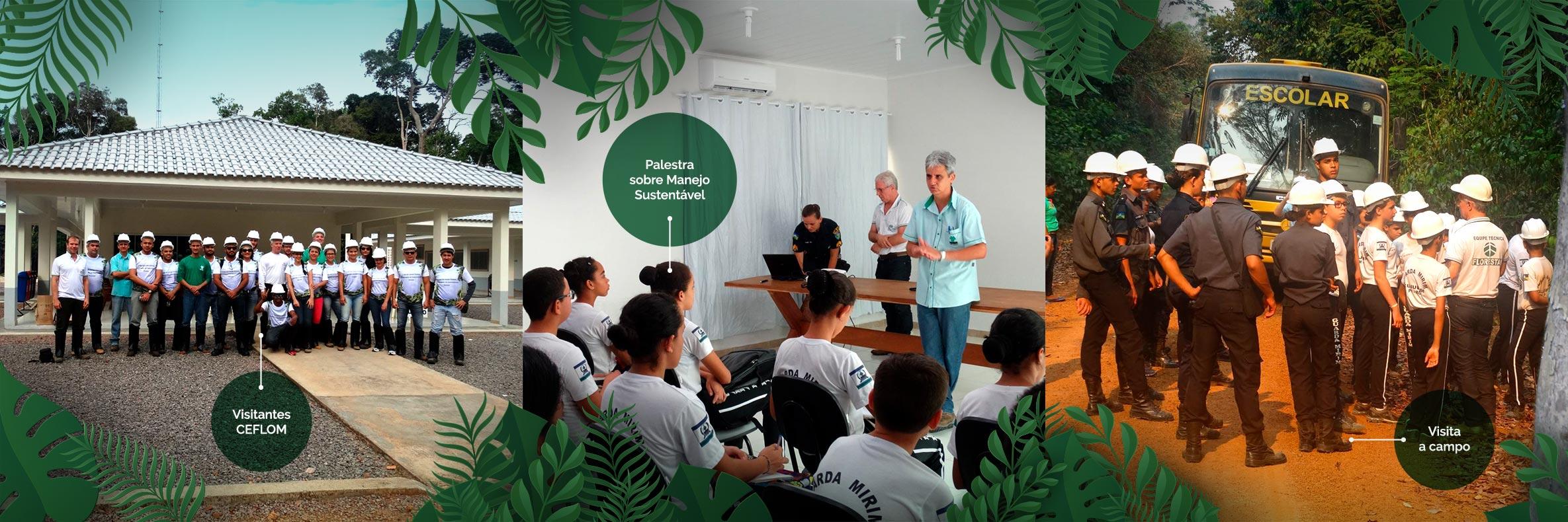 Atividades de Educação Florestal Ceflom Manoa