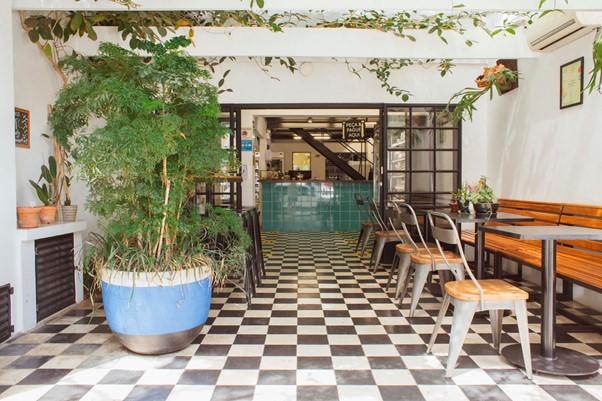 Entrada do restaurante, em Pinheiros. Foto: Bruno Geraldi